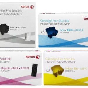 4 Pack Xerox Phaser 8560 / 8560MFP Genuine Ink Sticks