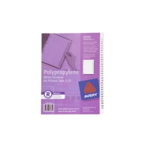 Avery 85631 Divider 1-31 Index Tabs A4 White