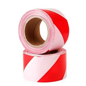 Maxisafe Red and white barricade tape