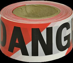 Maxisafe DANGER black on red/white tape