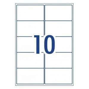 A4 Labels 10 Per Page 99.1×57mm 100 Sheets