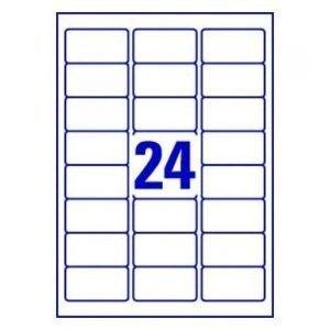 A4 Labels 24 Per Page 63.5×33.9mm 100 Sheets