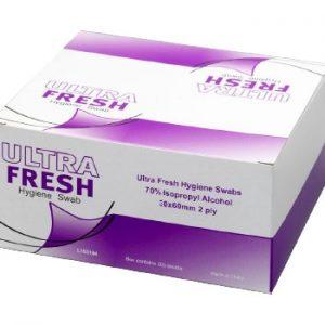 Ultra Fresh Alcohol Wipe Hygiene Swab Sachets 200 Pack