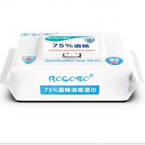Antibacterial Isopropyl 75% Alcohol Wipes 80 Pack